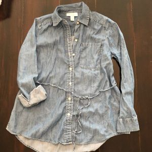 Maternity Chambray Tunic